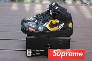 Details about Nike x Supreme NBA Air Force 1 Mid '07 SS18 Black AQ8017 001 Size 9 Jordan 1 Lot