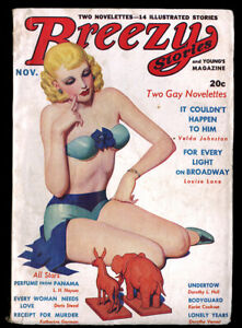 Vintage-Spicy-Pulp-Magazine-Enoch-Bolles-Pin-up-Breezy-Stories-November-1936-NR