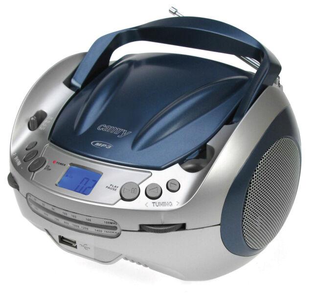 Kinder CD-Radio Tragbarer CD MP3 Player USB Radio Tragbares Boombox Blau NEU