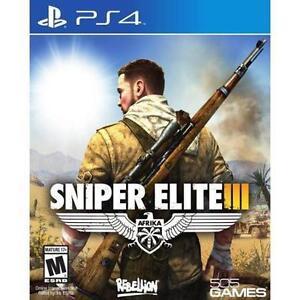 SNIPER ELITE III PS4! SHOOTER, WAR MISSION, WARFARE, KILLZONE, X-RAY KILL CAM!