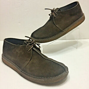 CLARKS-Original-DESERT-TREK-Mens-13-Dk-BROWN-Suede-Crepe-Sole-SHOES-Chukka-BOOTS