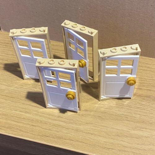 - TAN  door frame 4 off door 1x4x6 LEGO WHITE doors friends