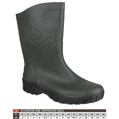 Ladies Green Dunlop Half Height Wide Calf Wellington Wellies Short Boots 4 to 8