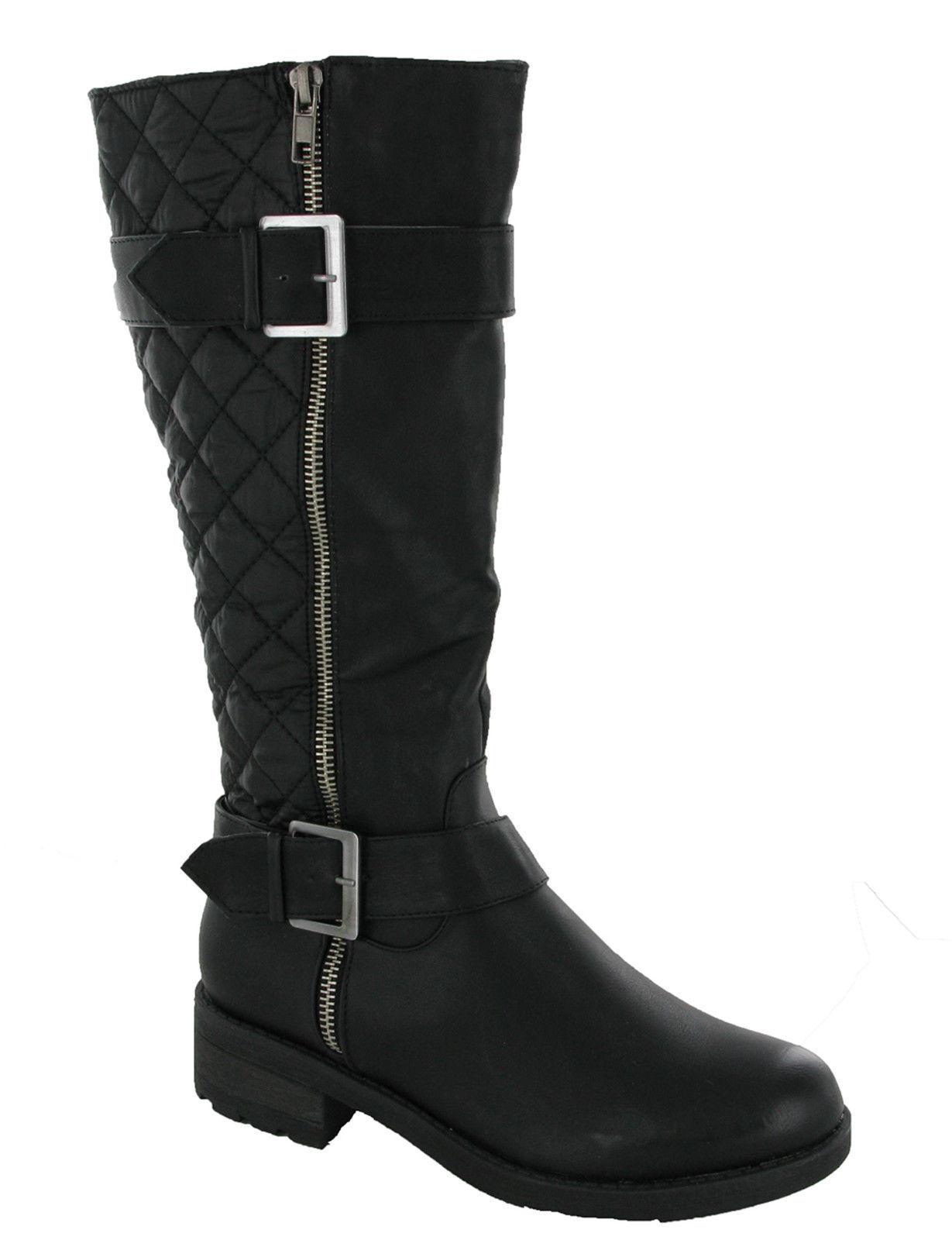 Soft Quilted Fur Lined Zip Riding Casual Winter Grip Womens Boot UK 3-8