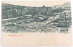 SCARCE-EARLY-1900s-HONG-KONG-HARBOUR-UNUSED-POSTCARD