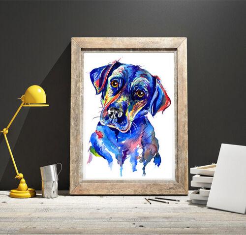Black Labrador art print painting Retriever Dog Artwork Gifts Birthday Gift