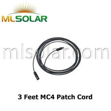 3 FT Solar Panel Extension Cable 10 AWG PV Wire Male Female MC4 Connector UL