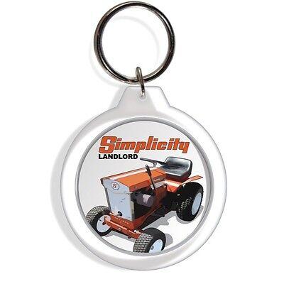 Simplicity Tractor Farm Garden Lawn Rider Mower Keychain Key Ring Chain Acrylic