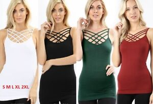 Seamless-Triple-Criss-Cross-Caged-Spaghetti-Cami-Tank-Caging-Top-S-M-L-XL-2X-3X