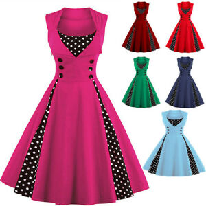 b3e568f07920 Image is loading Womens-Vintage-Style-50s-Rockabilly-Retro-Swing-Pinup-