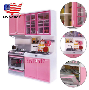 Details about Kitchen Pretend Play Cooking Set Cabinet Stove Toy for Kids  Baby Mini Children