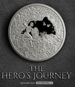 1-oz-The-Hero-039-s-Journey-Proof-Silver-Round-Silver-Shield-999-Fine-IN-STOCK