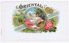 Oriental, inner cigar box label, woman smoking
