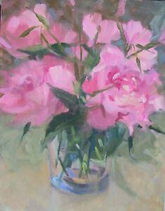Peonies-3-pink-peonies-amp-Primroses-in-Glass-vase-14x11-O-C-Margaret-Aycock