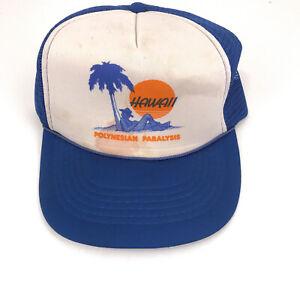Vintage Hawaii trucker hat cap Polynesian Paralysis Hawaiian Headwear hbx47
