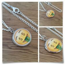Emoji Money Tongue Face Charm pendant necklace txt geek