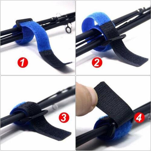 10 x Elastische Angelrute Bänder Angeln Zubehör