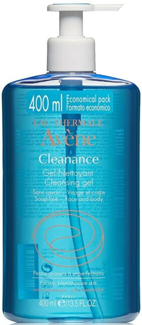 AVENE CLEANANCE FACE & BODY CLEANSING GEL SOAP FREE OILY BLEMISH PRONE SKIN