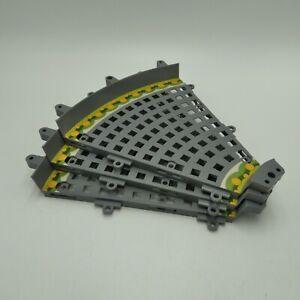 K'NEX Finish Line Building Set Mario Kart Wii Grey Wide Curve Track Only 3 Pcs
