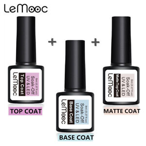 LEMOOC-Base-Matte-Top-Coat-UV-Gel-Vernis-a-ongles-Soak-Off-UV-LED-Nail-Primer