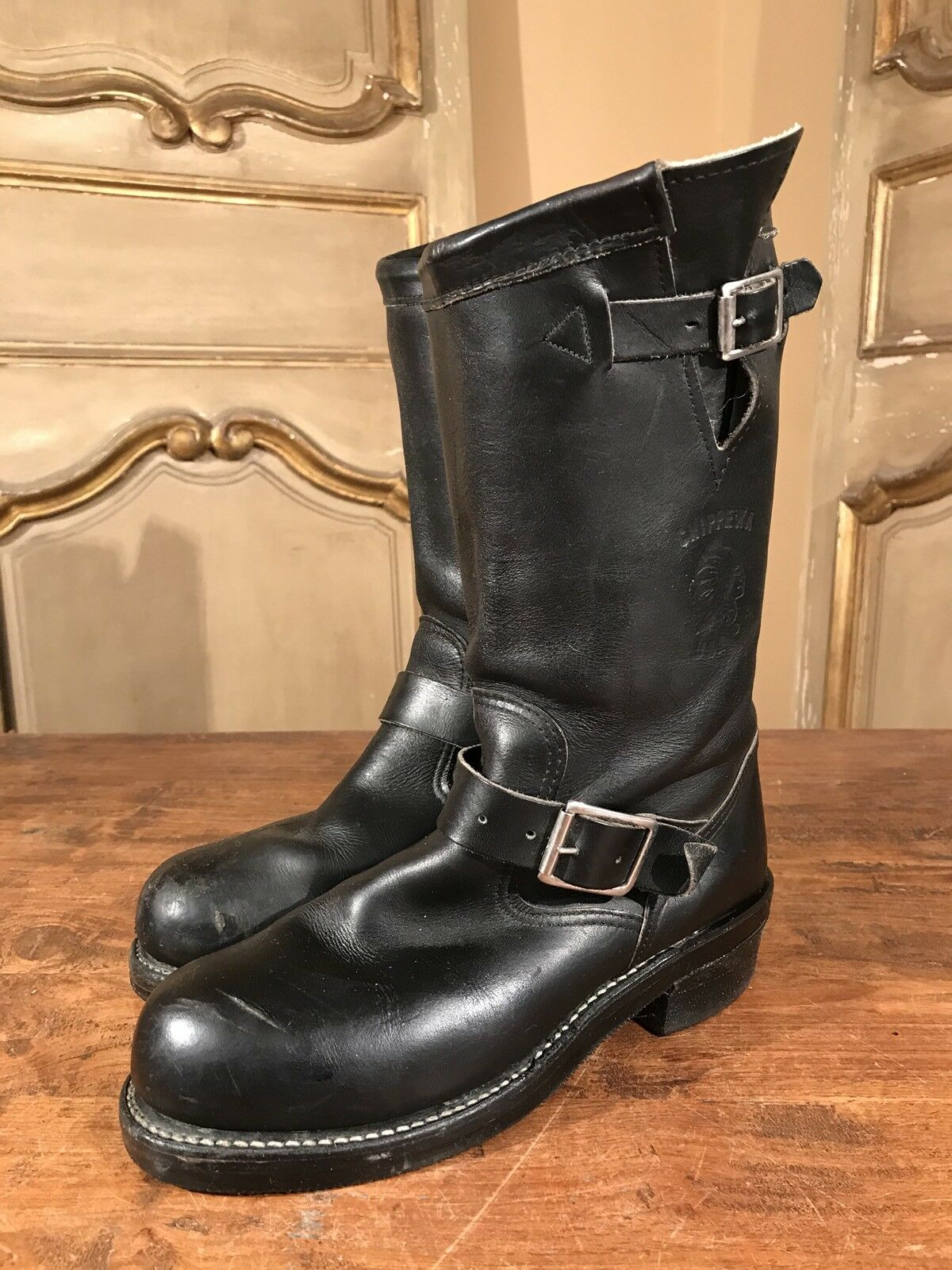 Vintage Chippewa Lineman Engineering Campus Motorcycle Boots Women's 6.5 M
