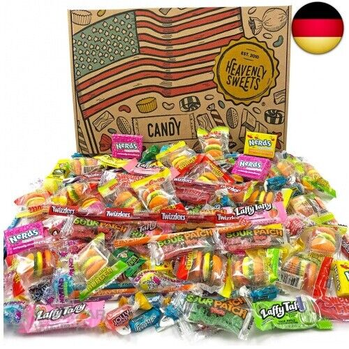 Amerikanische Süßigkeiten GeschenkkorbLebensmittel aus den USAAuswahl b