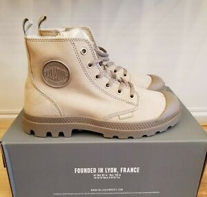 Details about NEW IN THE BOX PALLADIUM PAMPA HI ZIP WL 95982 071 FEATHER GRAY BOOTS FOR WOMEN