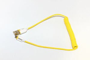 Bytecc U2MC-OR Colored USB Coiled Cable USB 2.0 A Male to Micro B 1.2 Meters