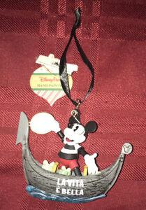 Disney Parks EPCOT Germany Pavilion Mickey Mouse Pretzel Christmas Ornament New