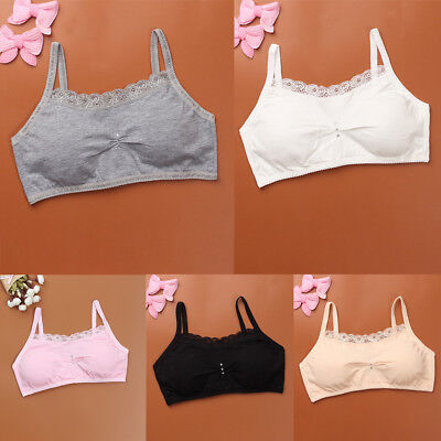 Teenage Underwear For Girls Cutton Lace Young Training Bra For Kids Clothing PT