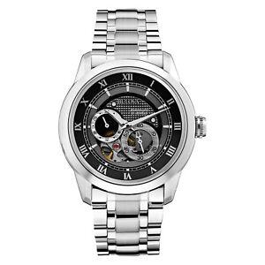 Bulova BVA Series Men's 96A119 Automatic Skeleton Caseback Black Dial 42mm Watch