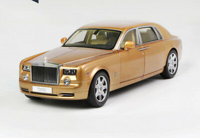1:18 Roll-Royce Phantom EWB DIE CAST MODEL GOLD RARE
