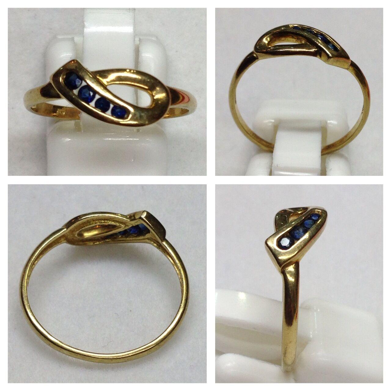 Filigraner goldring 333er gold mit Saphir Ring Saphirring