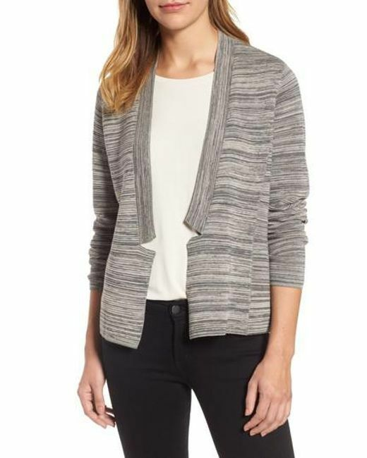 NWT Eileen Fisher Maple Oat Oat Oat Tencel Organic Cotton Notch Collar Cardigan Size 2X b91629