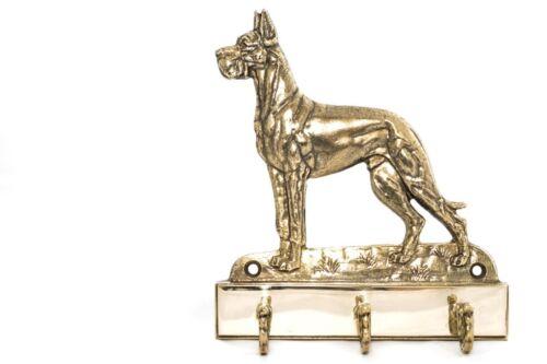 Dogue Allemand - Cintre En Laiton Avec Un Chien, Haute Qualité, Art Dog Fr