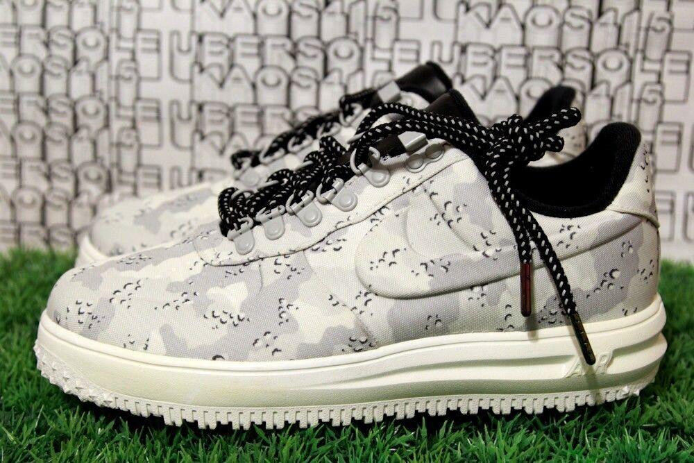 Nike forza lunare bassa un inverno boot mimetico biancastro travis scott aa1125-003 uomini 9