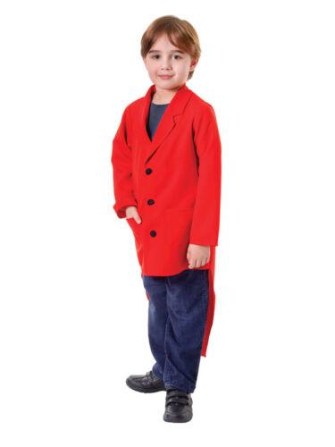 BAMBINO CIRCO TOP MASTER ROSSO FRAC Abito fantasia ragazzi Costume bambini Vestito