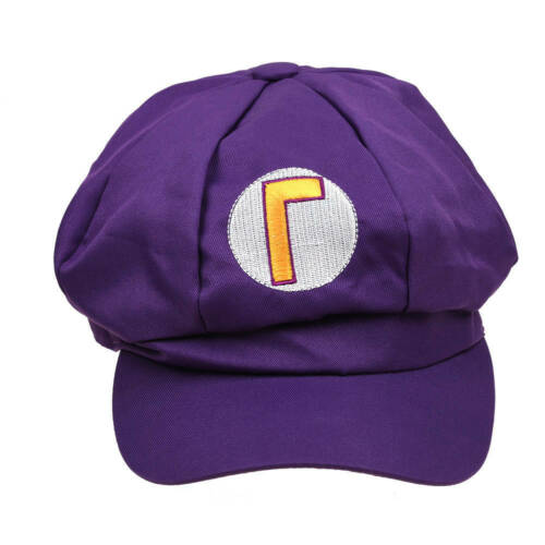 Fashion Luigi Super Mario Bros Cosplay Adult Kids Hat Cap Baseball Costume