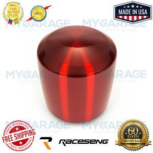 Red Translucent No Engraving Raceseng Rondure Shift Knob M10x1.25mm Adapter