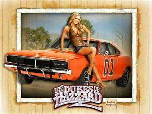 Voiture Poster Of The Dukes Of Hazzard 60 Cm X 45 Cm Aprox-afficher Le Titre D'origine
