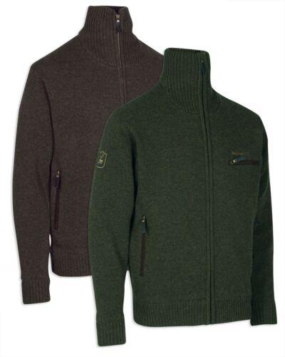 Deerhunter Kendal Knit Cardigan-DH331 VERDE 86/% lana d/'agnello.