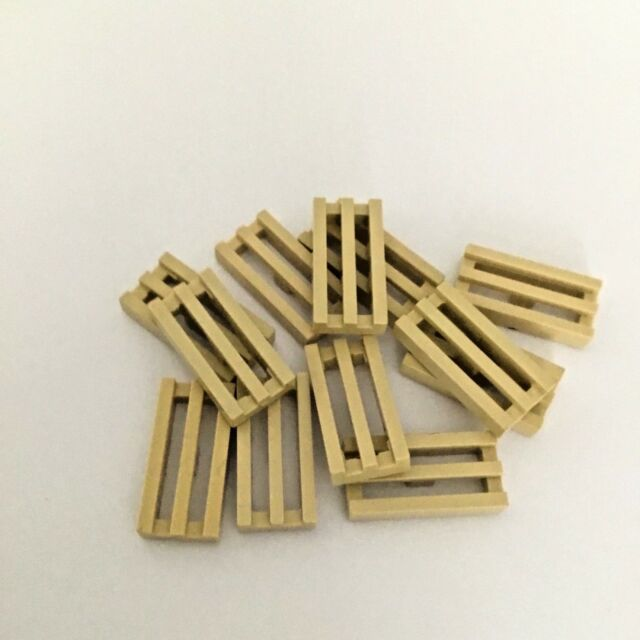 LEGO Pearl Gold Tile 1x2 with Groove Lot of 100 Parts Pieces 3069b