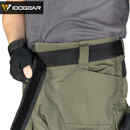 """Details about  /IDOGEAR Tactical Belt Mens Belts Sports Inner Belt Airsoft 1.7/"""" Waist Belt Duty"""