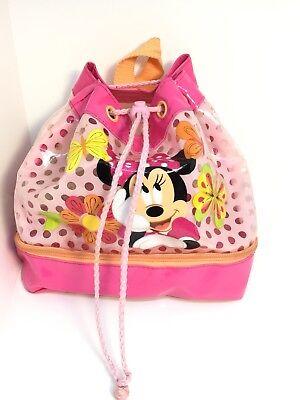Abile Disney Store Minnie Mouse Zaino Borsetta Nuoto Borsa Rosa Glitter Swim-mostra Il Titolo Originale