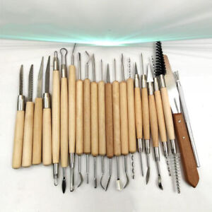 22PCS-Pottery-Clay-Wax-Sculpting-Polymer-Modeling-Carving-Tools-Craft-Kit-Xmas