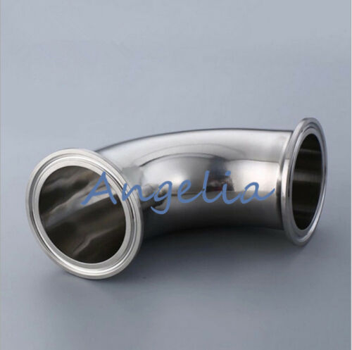 """1-1//2/"""" Clamp Sanitary Elbow Pipe Fitting 90 Degree OD50.5mm Stainless Steel 304"""