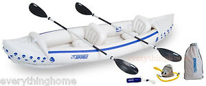 Sea-Eagle-370-Deluxe-Inflatable-Kayak-Pkge-2-Seats-Factory-New-3-Yr-Warranty