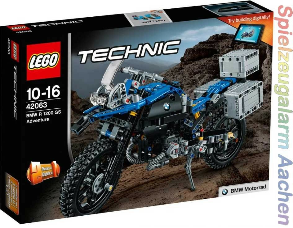 LEGO Technic 42063 BMW R 1200 GS ADVENTURE MOTO MOTORBIKE n1 17