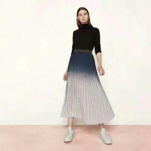 forefront of the times distinctive style cute Details about Hot Maje Tie Dry Pleated Elasticated Waist Women Long Midi  Skirt Light-Blue 2019