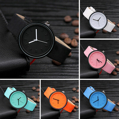 Fashion Womens Stainless Steel Watches Retro Quartz Analog Canvas Wrist Watch